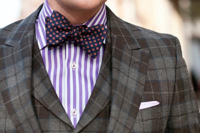 时尚回归 男人怎样用领结拗造型
