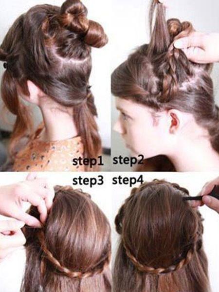 长发梳头技巧图解第8页:4款气质发型 长发梳头技巧图解 打造步骤:步骤