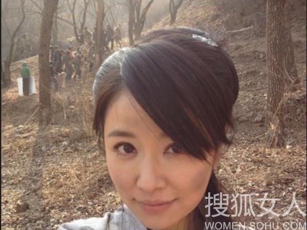 华语明星最新微博发型私照图片