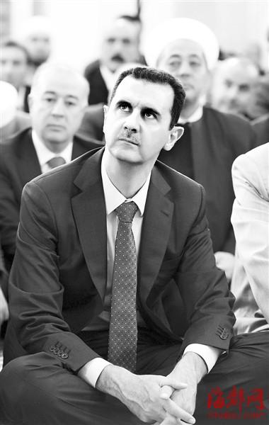 叙利亚总统巴沙尔出席开斋节礼拜