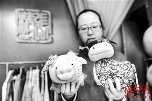 张清清做的手工艺品,布娃娃缝起的童话世界