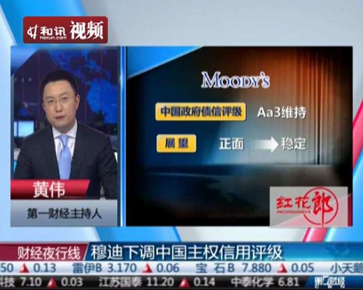 穆迪下调中国主权信用评级