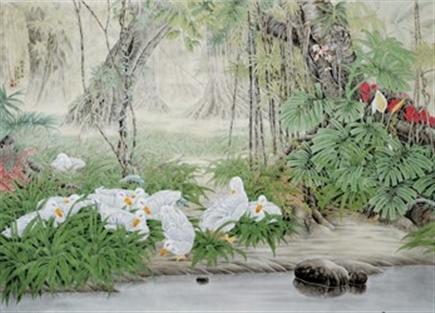 中国画(花鸟画).毕业于北京画院研究生班、进修于现代工笔画