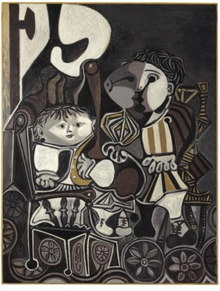 两个小孩 毕加索高清图片