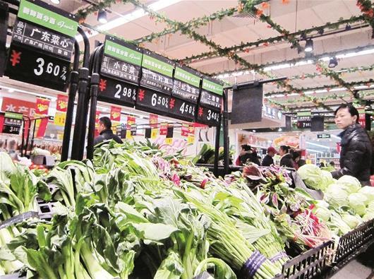 楚天都市报讯 图为:最近一个多月,江城蔬菜价格季节性上涨趋势明显