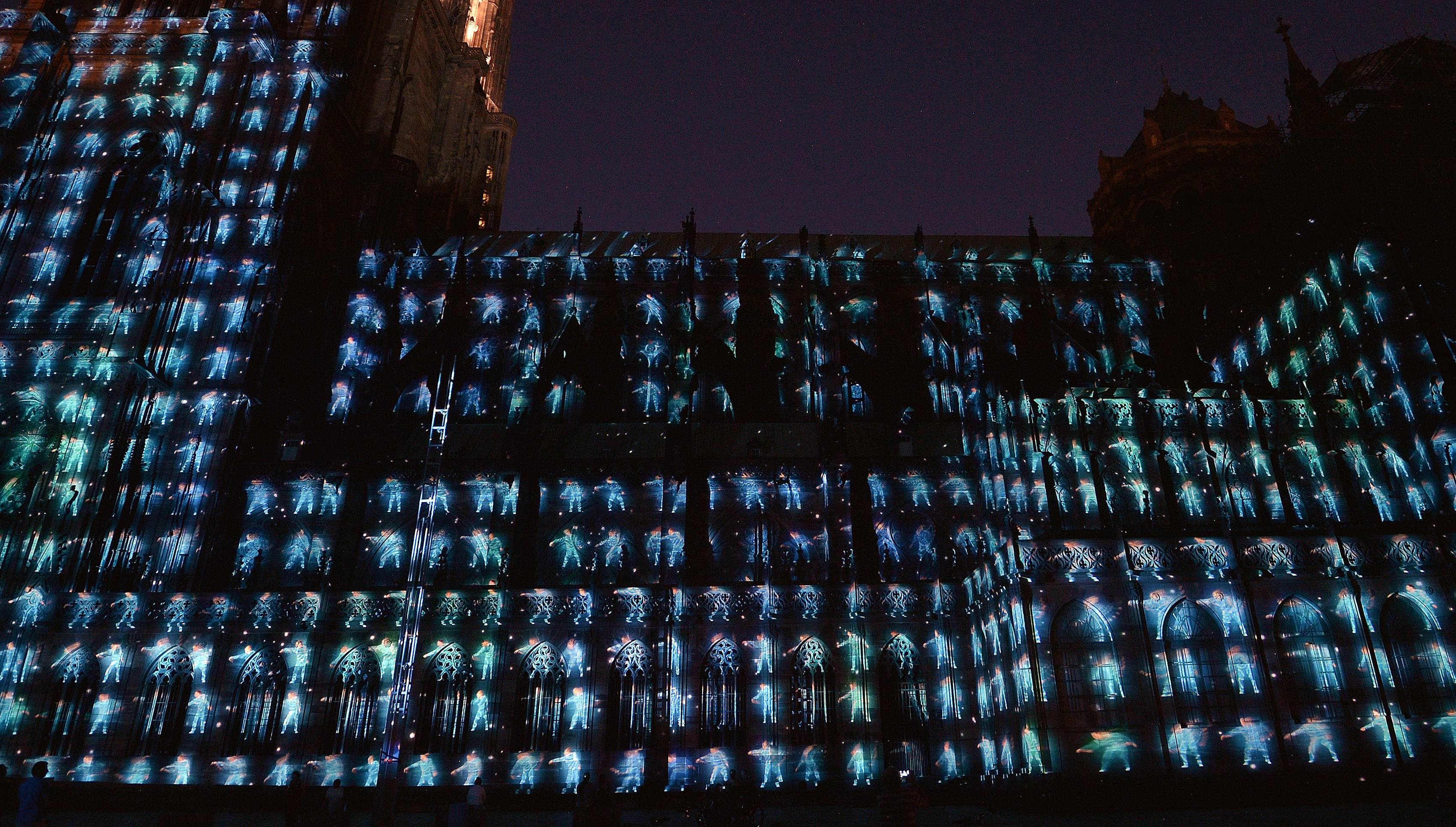 锐视角 2 斯特拉斯堡大教堂灯光秀庆千岁生日 高清图片