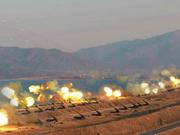 金正恩指挥朝鲜最大规模炮兵训练