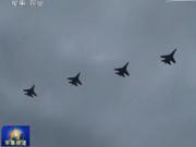 空军大规模演习出动多型战机